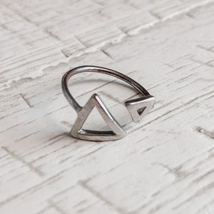 💜2/$15 Urban Outfitters Silver Triangle Ring